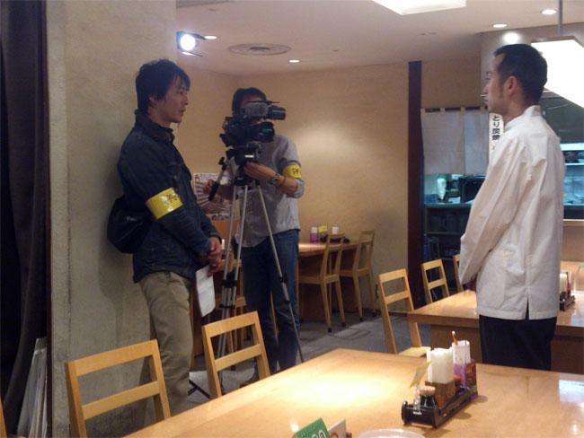 八雲パルコ店がテレビ取材されました